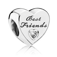 Load image into Gallery viewer, Pandora Polished Best Friends Heart Charm