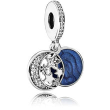 Load image into Gallery viewer, Pandora Moon and Blue Sky Dangle Charm