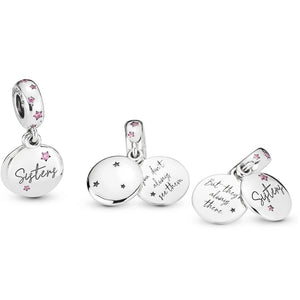 Pandora Forever Sisters Family Dangle Charm