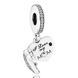 Pandora I Love My Mum Heart Dangle Family Charm