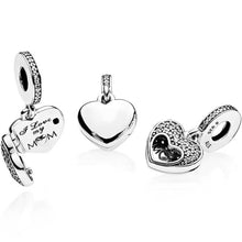 Load image into Gallery viewer, Pandora I Love My Mum Heart Dangle Family Charm