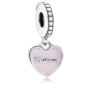 Pandora Mother and Daughter Split Hearts Dangle Family Charm