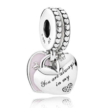 Load image into Gallery viewer, Pandora Mother and Daughter Split Hearts Dangle Family Charm