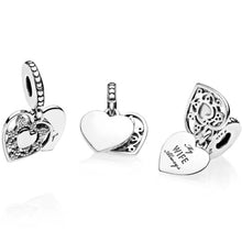 Load image into Gallery viewer, Pandora My Wife Always Heart Dangle Charm