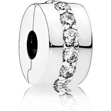 Load image into Gallery viewer, Pandora Clear Sparkling Row Clip Charm