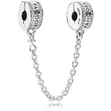 Load image into Gallery viewer, Pandora Logo Safety Chain Clip Charm