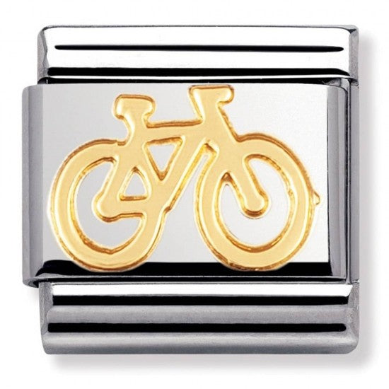 Nomination Yellow Gold Bike Charm