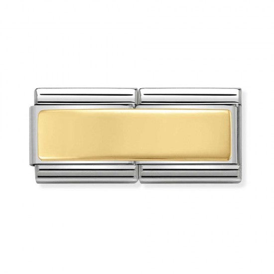 Nomination Yello Gold Double Link Engravable Plate Charm