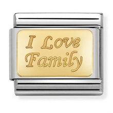 Load image into Gallery viewer, Nomination Yellow Gold I Love Family Charm