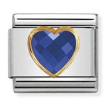 Load image into Gallery viewer, Nomination Yellow Gold Blue Heart Charm