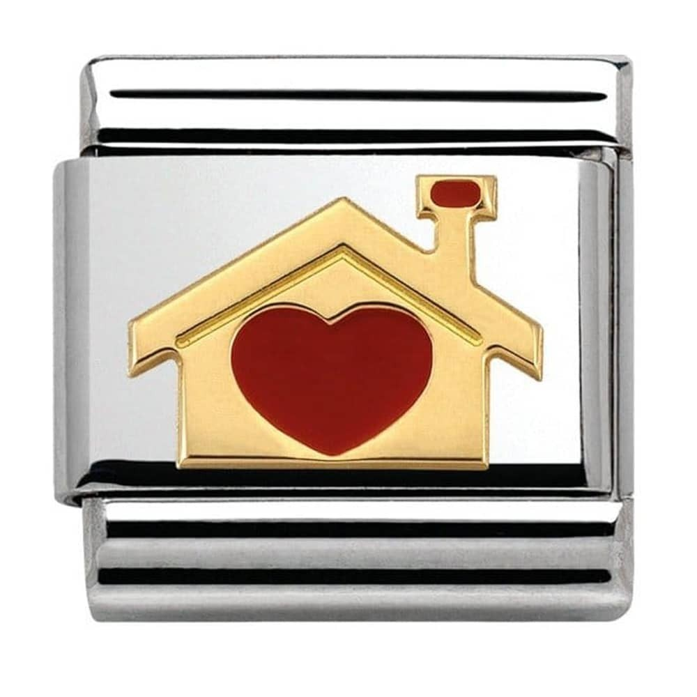 Nomination Yellow Gold Love Heart Home Charm