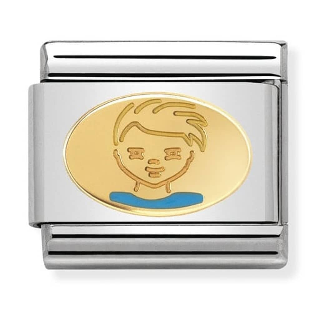 Nomination Yellow Gold Little Boy Charm
