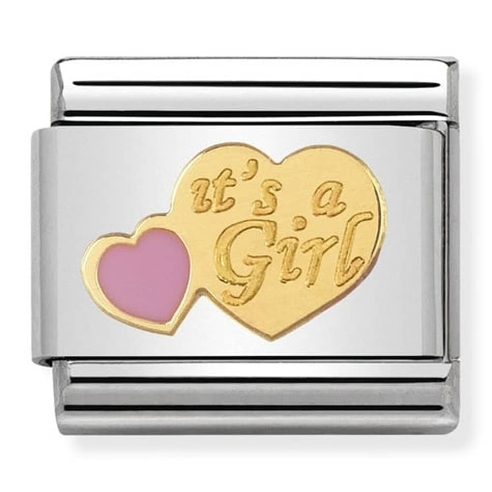 Nomination Yellow Gold It's A Girl Charm