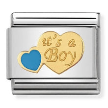 Load image into Gallery viewer, Nomination Yellow Gold It's A Boy Charm