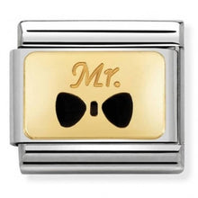 Load image into Gallery viewer, Nomination Yellow Gold Mr Bow Tie Charm