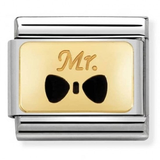 Nomination Yellow Gold Mr Bow Tie Charm