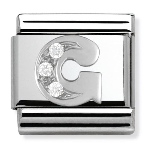 Nomination Silver Initial G Charm