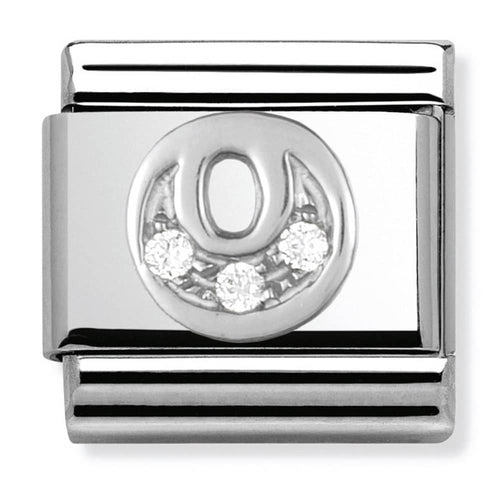 Nomination Silver Initial O Charm