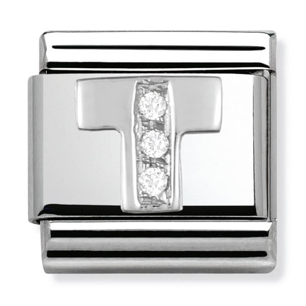 Nomination Silver Initial T Charm