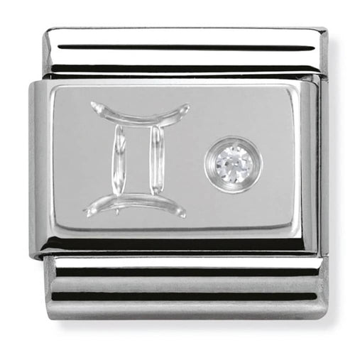 Nomination Silver Gemini Star Sign Charm