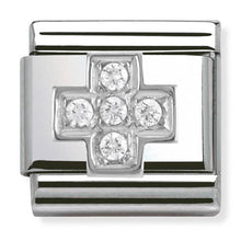 Load image into Gallery viewer, Nomination Silver Cubic Zirconia Cross Charm