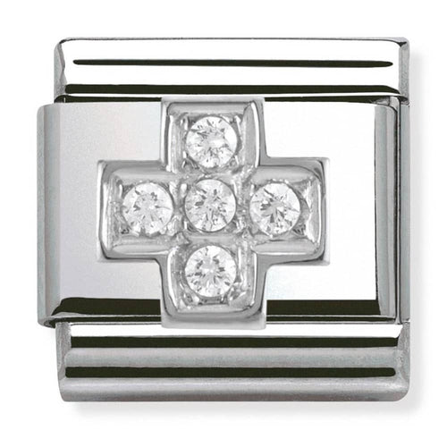 Nomination Silver Cubic Zirconia Cross Charm