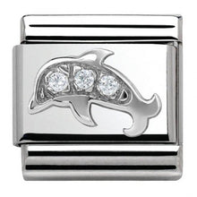 Load image into Gallery viewer, Nomination Silver Dolphin Charm With Cubic Zirconia