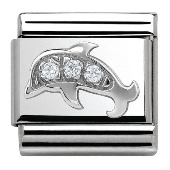 Nomination Silver Dolphin Charm With Cubic Zirconia