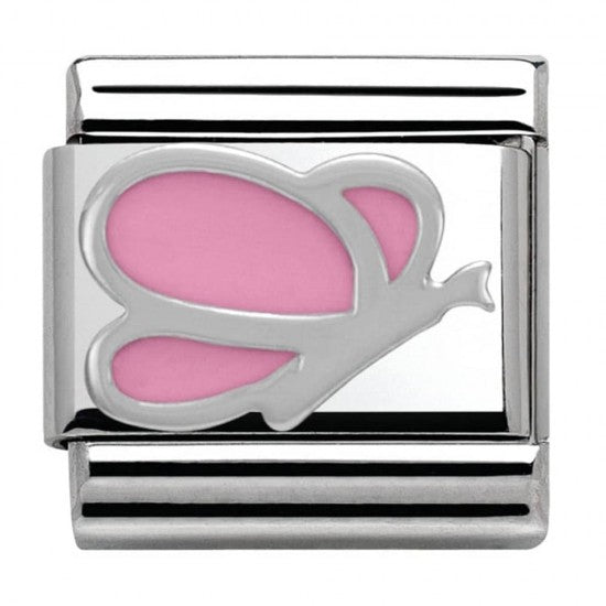 Nomination Silver Pink Butterfly Charm