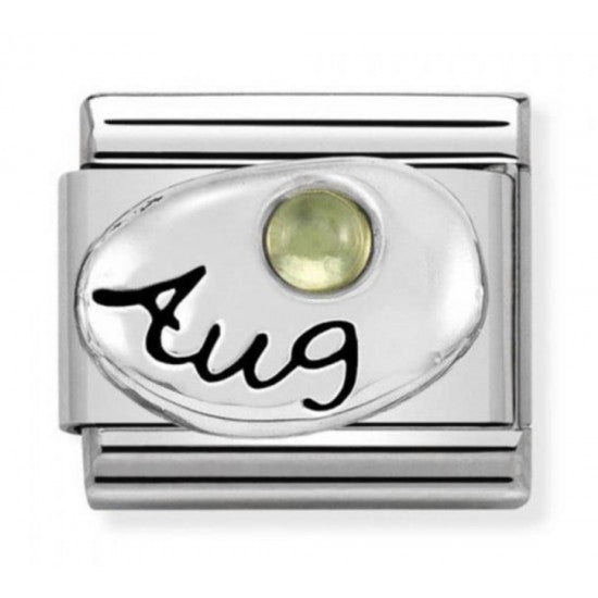 Nomination Silver August Peridot  Birthstone Charm