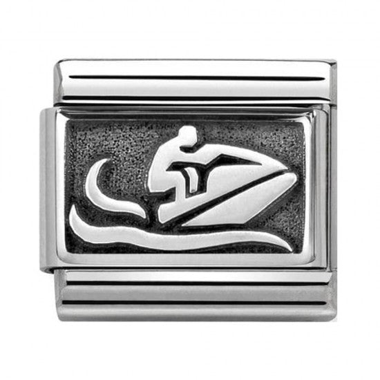 Nomination Silver Oxidised Jetski Charm