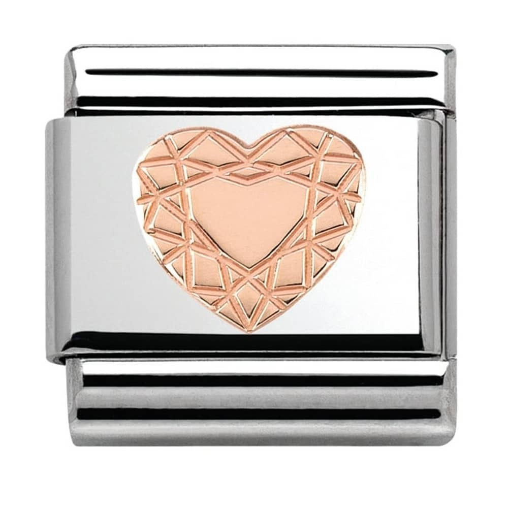 Nomination Rose Gold Vintage Heart Charm