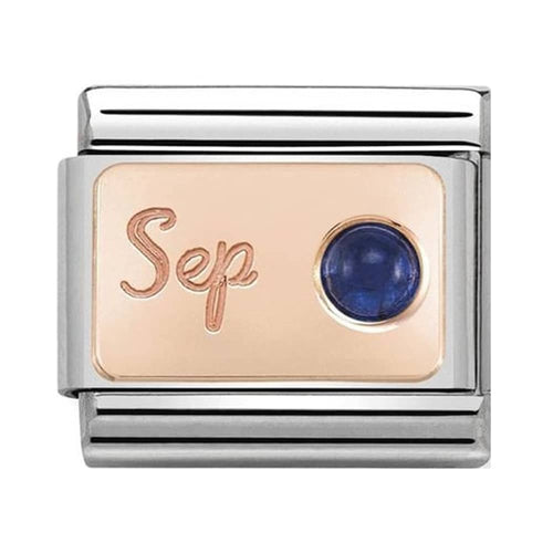 Nomination Rose Gold September Birthstone Sapphire Charm