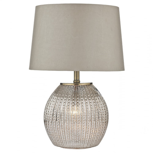 Dual Light Table Lamp With Shade -Champagne