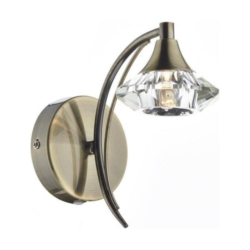 1 Light Wall Light - Antique Brass