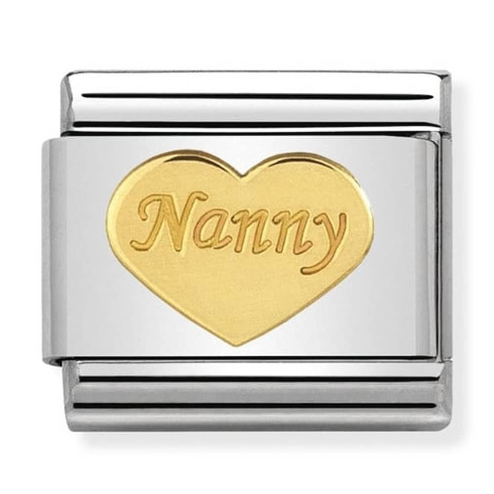 Nomination Yellow Gold Nanny Heart Charm