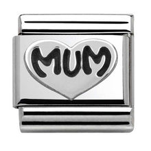 Load image into Gallery viewer, Nomination Silver Oxidised Mum Charm