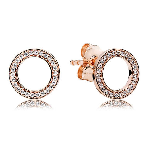 Pandora Rose Sparkling Circle Stud Earrings