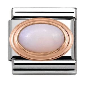 Nomination Rose Gold Pink Opal Charm