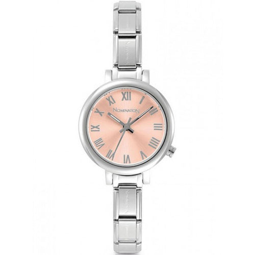 Nomination Watches- Stainless Steel Paris Round Watch With Pink Face