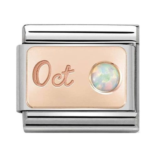Nomination Rose Gold October White Opal Birthstone