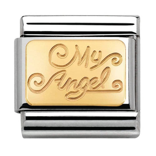 Nomination Yellow Gold My Angel Charm