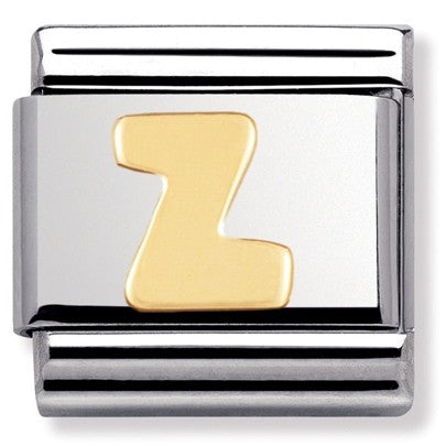 Nomination Yellow Gold Initial Z Charm