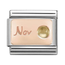 Load image into Gallery viewer, Nomination Rose Gold November Birthstone Citrine Charm