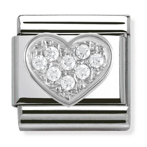 Nomination Silver Cubic Zirconia Heart Charm