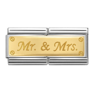 Nomination Yellow Gold Mr and Mrs Double Charm