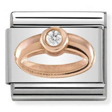 Load image into Gallery viewer, Nomination Rose Gold Ring Charm