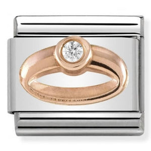Nomination Rose Gold Ring Charm