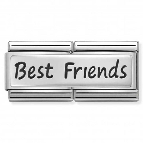 Nomination Silver Double Link Best Friends Charm