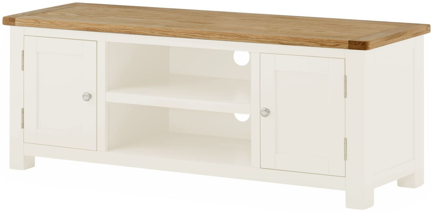 Cottage Low TV Unit White